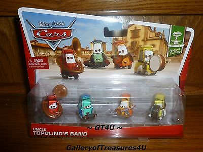 Disney Pixar CARS Uncle Topolino's Band 4 Pack Festival Italiano 1:55 Diecast