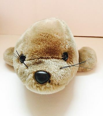 "15"" Sea World Solid Gray Seal Stuffed Animal Toy Plush"