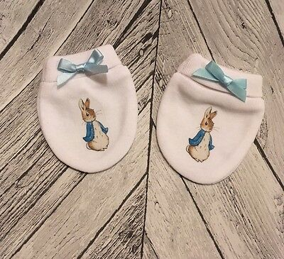 Peter Rabbit Inspired Baby Scratch Mitts/mittens