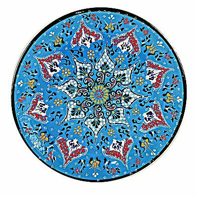 Turkish Ceramic Appetizer Dishes Hand Painted - Blue (Set of 8)