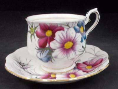 Royal Albert FLOWER OF THE MONTH Cup & Saucer October Cosmos GREAT CONDITION