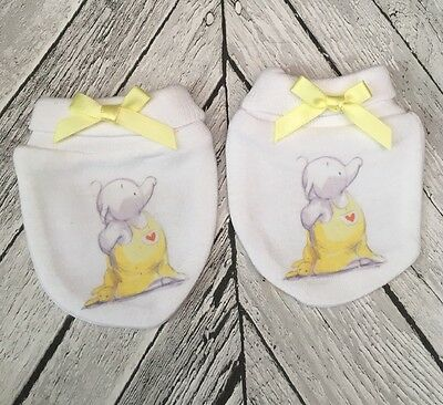 Cute Humphrey Elephant Inspired   Baby Scratch Mitts/mittens