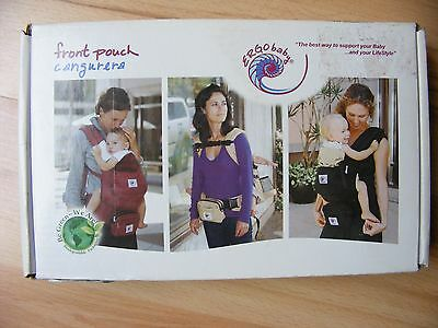 ERGO BABY Front Pouch Pack Cangurera Accessory Camel Tan New in Box