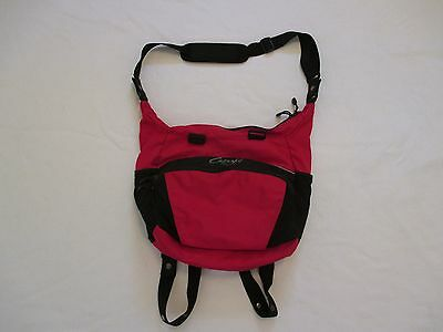 Red & Black Capezio Convertible Dance Bag Shoulder Messenger Tote Backpack