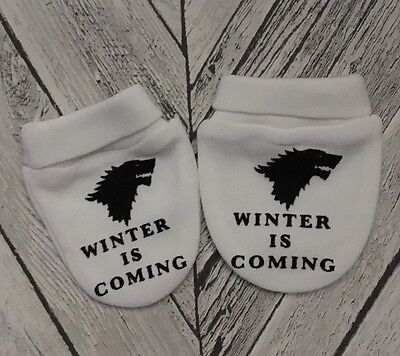Game Of Thrones ' Winter Is Coming' Baby Scratch Mitts/mittens