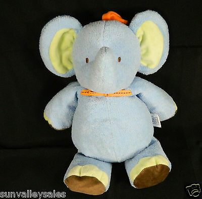 Carters Elephant Blue Crib Toy Pull String Musical Just One Year