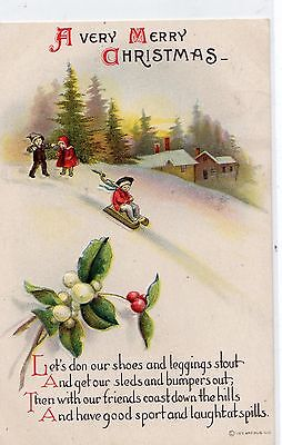 Early 1900's  Christmas  Postcard - Selling Lot Of Cards