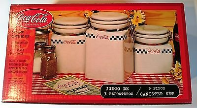 Coca-Cola 3pc DRIVE-IN Canisters set Collectors Item, NEW