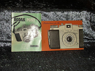Kodak Pony Camera Instruction Guide Booklets 135 Model C and 828