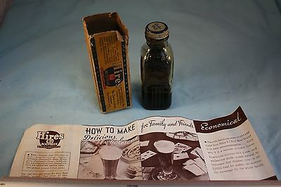 Vintage Hires RJ Root Beer Household Extract Bottle in Box With Instructions