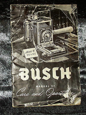 Busch Precision Pressman Model C Camera Instruction Manual