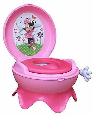 Toddler Potty Train Minnie Mouse 3in1 First Years Baby Toilet Chair Stool System