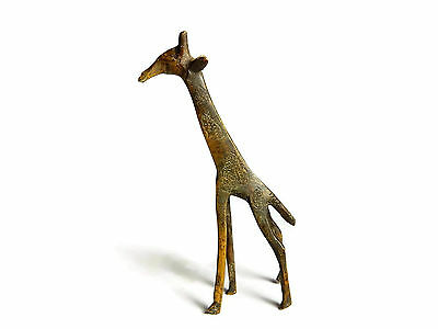 Rare Antique African Bronze Ashanti Gold Weight - Giraffe 3