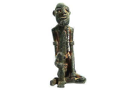 Antique African Cast Bronze Tribal Rare Dogon sculpture of a Tribal men 2