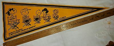 Snoopy Pennant Stars Of The Movie Boy Named Charlie Brown Vintage Peanuts 1970