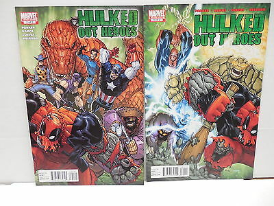 Hulked Out Heroes Marvel Comic Books 1 2 Spider-Man Dead-Pool Thor Ramos Art