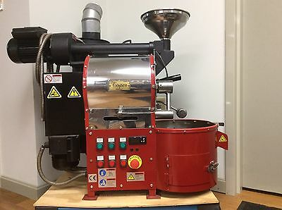 2.2 Lbs. Roaster in fire engine red and very robust! Get it now before it goes!