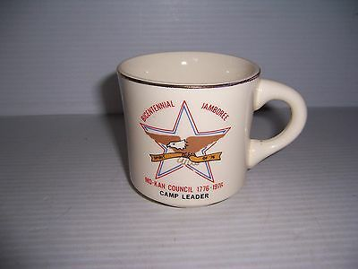 Vintage Mo-Kan Council Bicentennial Jamboree Camp Leader Mug 1776-1976