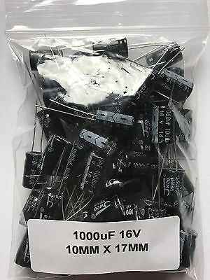 1000uF 16V Radial Electrolytic Capacitors 105°C YOU CHOSE QTY 1 - 50 USA FAST