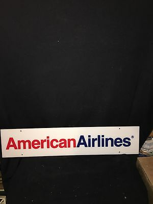 """1980's 28"""" American Airlines Sign"""