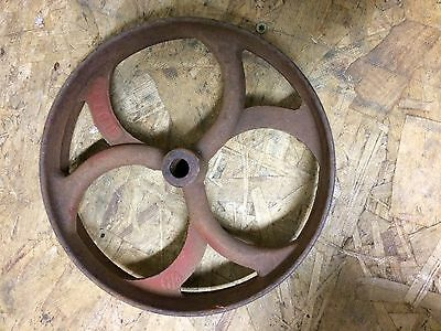Vintage Cast Iron Pulley Wheel Antique Industrial Steampunk Lamp Base IH RB130