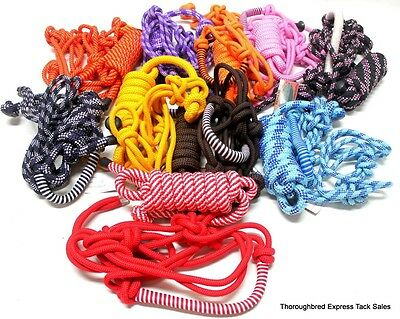 D.A. Brand Lot of 10 Braided Nose Cowboy Rope Halters w/ Leads Horse Tack