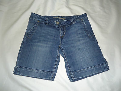American Eagle Outfitters Size 10 Blue Jean Low-Rise Stretch Shorts