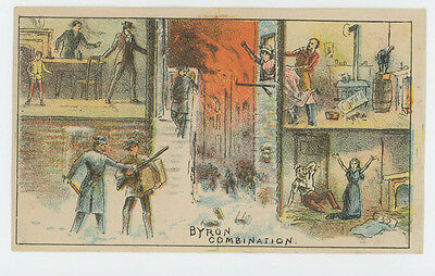 Theatrical Theater Play Byrons Combination Trade Card