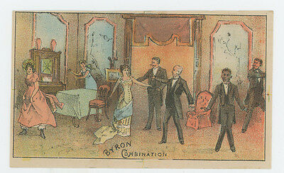 Theatrical Theater Play Byrons Combination Dance Club Trade Card