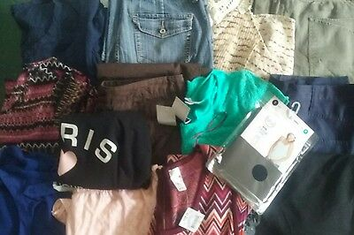 Bulk Ladies size 12/M Clothes. Tops, 3/4 Pants, Tunic, some New