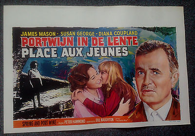 ORIGINAL BELGIUM FILM POSTER SPRING AND PORT WINE James Mason, Susan George