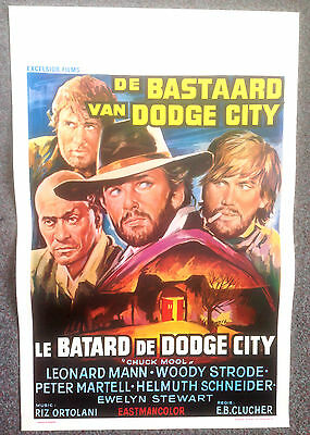 ORIGINAL BELGIUM FILM POSTER THE UNHOLY FOUR Woody Strode