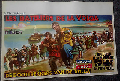 ORIGINAL BELGIUM FILM POSTER PRISONER OF THE VOLGA John Derek