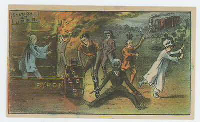 Byrons Across The Continent Theatrical Theater Trade Card