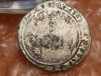 Ireland Philip & Mary Hammered Silver Groat Coin Dated 1555 Rare #1A