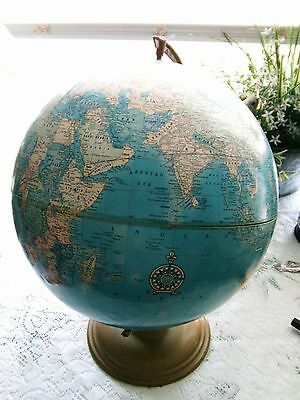 "VINTAGE CRAMS 12"" Imperial World Globe - c early to mid 1900s   BEAUTIFUL"