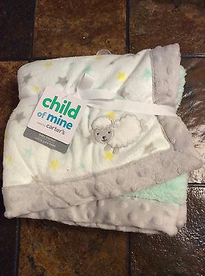 Child of Mine Carters plush fleece Newborn Baby Blanket 30x40""