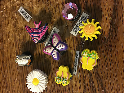 Authentic Jibbitz Crocs Shoe Charms, daisy owl flip-flops, lot of 8