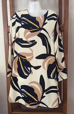 M & S Marcs And Spencer Petite Swing Shift Dress Size 8'