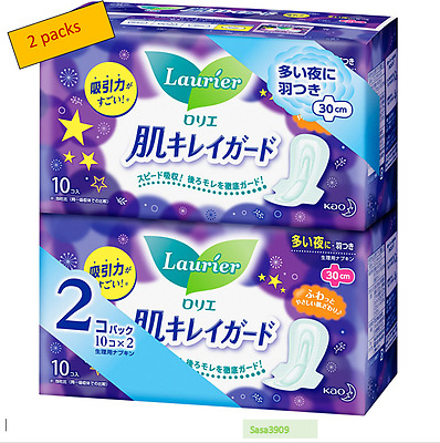 Japan Lorie Sanitary Napakins overnight wings 30 cm  x 2 packs