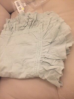 New Restoration Hardware Baby&Child Sea Blue Tattered Ruffle Euro Sham $69!