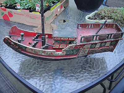 Antique Chinese Junk Sailboat battle cannon Model boat and ships 1800