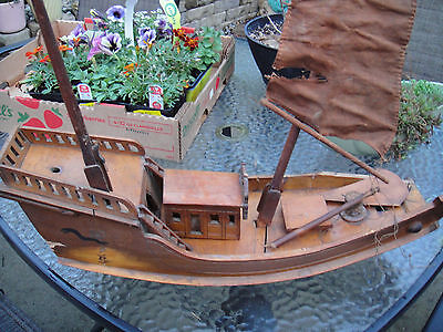 Antique Chinese Junk Sailboat  Model boat and ships 1800