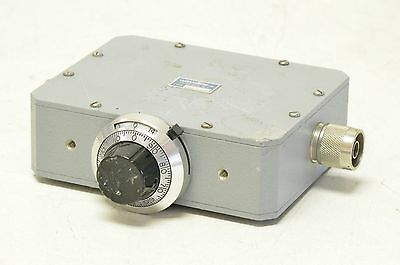 Waveline 9026-1 Variable Coaxial Attenuator Manual Driven 0-20 db