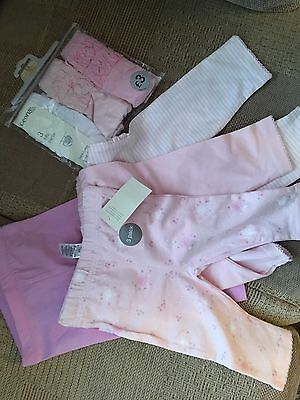Girls Leggings And Frilly Pants 3-6 months BNWT