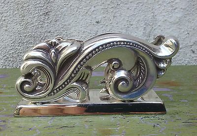 Brighton Ornate Baroque Style Metal Business Card Holder