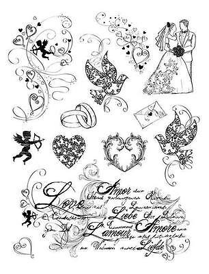 Tampons transparents Viva AMOUR mariage love scrapbooking carterie clear stamps