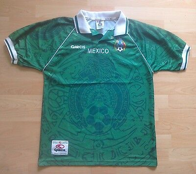 Rare Mexico Football Home Shirt Jersey 1999 Adult Medium Garcis