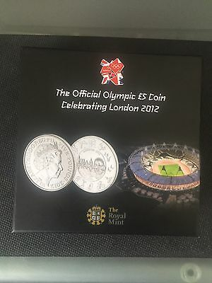 The Official Olympic £5 Coin Celebrating London 2012. Mint In Box.
