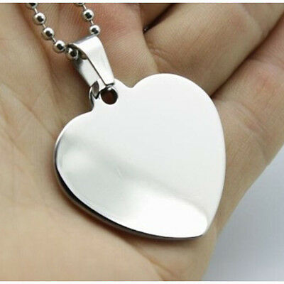 100pcs/lot Stainless Steel Blank Heart Pet Dog ID Tags Laser Engravable Dog Tags